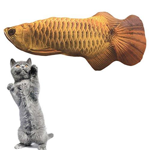 Wandskllss Juguetes de Gato Mascota Gato Juguetes Gato Gatito cojín picadura masticación Almohada simulación algodón Relleno Pescado Micha Juguetes Mascotas para Gatos Interiores (Color : 3)