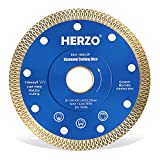 Disco de corte de diamante 115 mm HERZO. Disco Diamante para corte de Porcelanico,Cerámica...