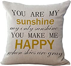 LivebyCare Wisdom Words Printed Cushion Cover Linen Cotton Cover Throw Pillow Case Sham Pattern Zipper Pillowslip Pillowcase for Decor Decorative Drawing Living Room