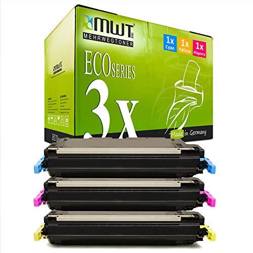 3X MWT kompatibel Toner für HP Color Laserjet 4700 wie Q5951A-53A Q5951A-Q5953A 643A Color