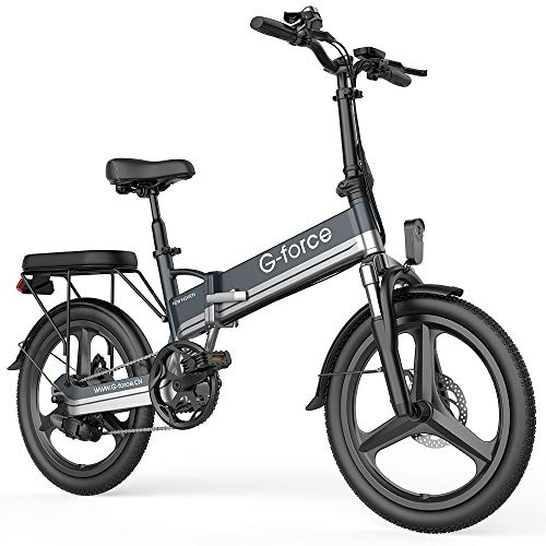 G-Force Electric Bike T13, Electric Bikes for Adults 20''Folding Ebike,350W Motor, Max Speed20MPH Adults Ebike with Removable Battery(48V 10.4A),Max Range 30Miles.