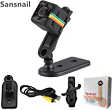 Sansnail 2017 New Original Mini Camera SQ11 HD Camcorder SQ8 SQ9 upgrade Night Vision Mini Camera 1080P Sports Mini DV Voice Video Recorder(Black)