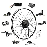 EBIKELING 36V 500W 700C Geared Waterproof Electric Bike Kit - Ebike Conversion Kit - Electric Bike Conversion Kit (Front/LED/Thumb)