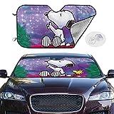 GuoJIMAN Snoopy Car Windshield Visor Protects The Car Sunscreen Anti-UV Sun and Heat Emitter Keep Cool Auto Sun Shade M