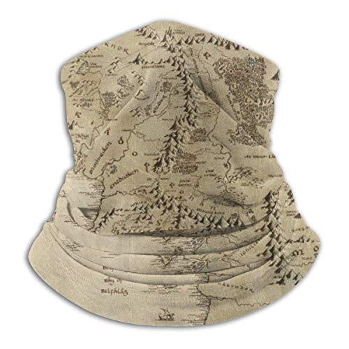 Washable Neck Gaiter Bandana Balaclava Co_V_e-R Lord of The Rings Map Breathable Windproof Headband Neck Warmer