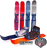 TEAM MAGNUS Snow skis for Kids as Used by USA Nordic – Adjust to All Boot Sizes for Skills & Fun