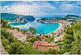 1000 piezas-Porte de soller Palma Mallorca Vista del puerto
