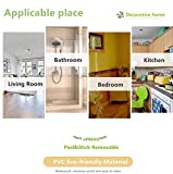 Selbstklebende Tapetenbordüre, Wandaufkleber für Badezimmer, Küche, Decke, wasserdicht, abnehmbar, Himmelblau, 10 cm x 10 m - 6