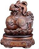 WQQLQX Statue Skulptur tierharz pi yao Statue feng Shui chi lin Kylin mit Drachen Avatar Figurine realth glück lowity Schutz dekor Skulpturen