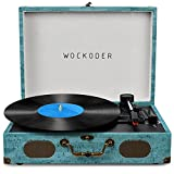 Record Player with Speakers Vinyl Record Player Wireless Turntables for Vinyl Records Suitcase Portable Record Player Vintage Record Player Turntable