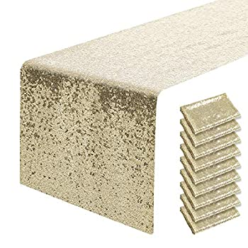 Best champagne sequin table runner Reviews