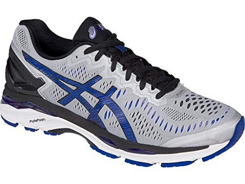 ASICS Men's Gel-Kayano 23 Running Shoe, Silver/Imperial/Black, 10 M US