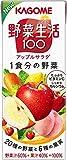 ★【さらにクーポンで15%OFF】カゴメ 野菜生活100 アップルサラダ 200ml ×24本が特価!