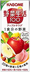 カゴメ 野菜生活100 アップルサラダ 200ml ×24本