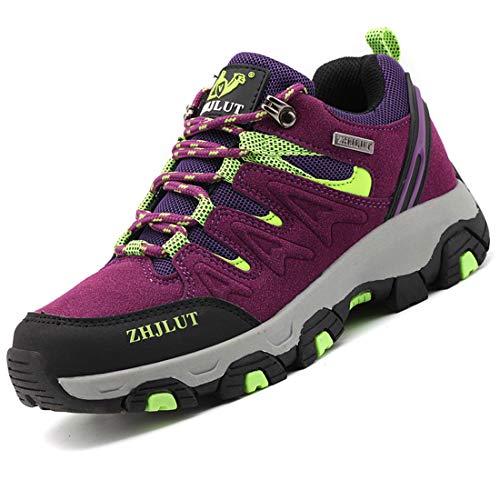 Zapatillas de Trekking para Hombres Zapatillas de Senderismo Botas de Montaña Antideslizantes Calzado de Trekking Botas de Senderismo AL Aire Libre Transpirable Sneakers EU35-47