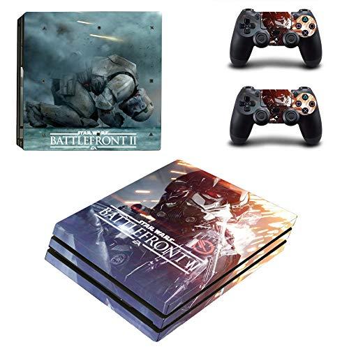FENGLING Star Wars Battlefront 2 Ps4 Pro Skin-Aufkleber für Sony Playstation 4 Konsole und Controller Ps4 Pro Skin-Aufkleber Vinyl-Aufkleber