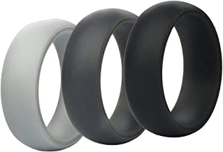 Desirepath Silicone Rings Couple Set Eternity Ring Men's Silicone Ring Wedding Band