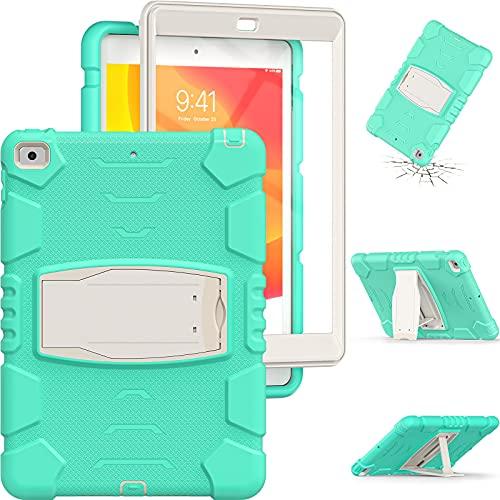 Tablet PC Bag Caso per bambini per iPad 10.2 (2019 2020), Tre layer PC + TPU Hybrid Hybrid Hybrid Holid Duty Custodia protettiva Cassa di protezione robusta, coperchio del supporto in silicone morbido