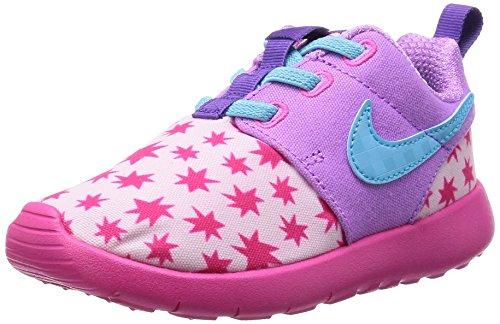 Nike Baby-Mädchen Roshe One Print (TDV) Sneaker, Rosa Blau Prsm Pnk Td Pl Bl FCHS GLW Pnk, 27 EU
