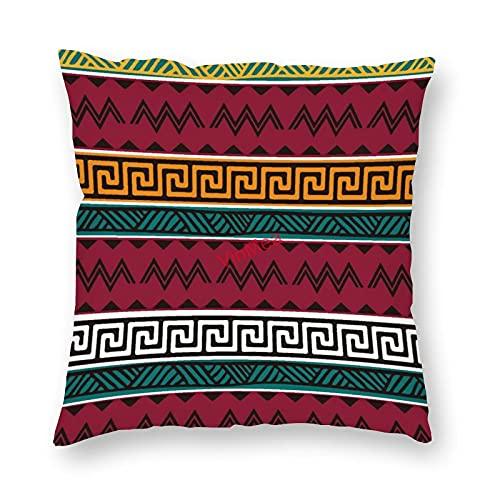 VinMea Funda de almohada decorativa bohemia color graffiti fundas de cojín para sofá, dormitorio, hogar, oficina, decoración de 45 x 45 cm