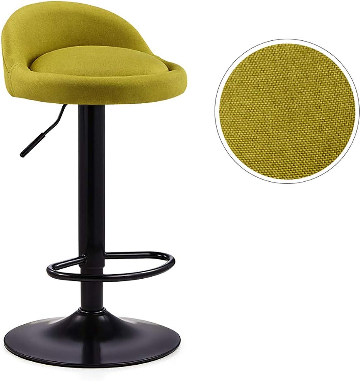 FFLSDR Bar Chair - Lifting High Stool redating Bar Chair Creative Bar Chair (color   Green)