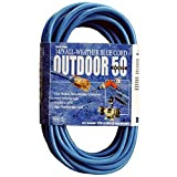 Southwire 02368-06 16-3 50-Foot Hi-Vis Low Temp Winter Extension Cord, Blue