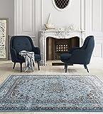 3212 Distressed Blue 7'10x10'6 Area Rug Carpet Large New
