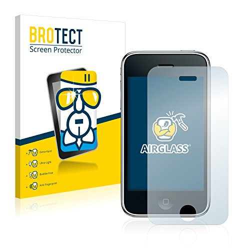 BROTECT Panzerglas Schutzfolie kompatibel mit Apple iPhone 3GS - AirGlass, 9H Härte, Anti-Fingerprint, HD-Clear