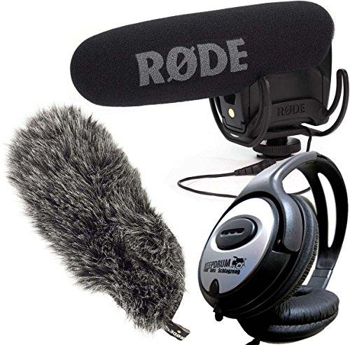 Rode VideoMic Pro Rycote Videocamera Fotocamera Microfono + Deadcat VMPR?? + Keep Drum Cuffie