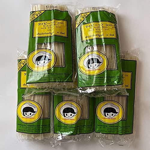 ●ビーフン ストレート3�o 5袋×400g 米粉麺 (原材料 うるち米)ビーフンもフォーも主原料は米のライスヌードル タイ産 賞味期限2022.11.5