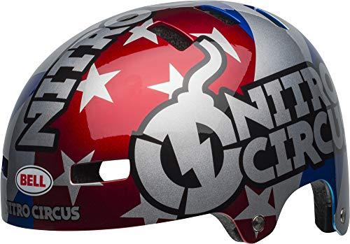 BELL Local Casco BMX/Skate, Unisex Adulto, Nitro Circus Gloss Cover Case Negro, Small/51-55 cm