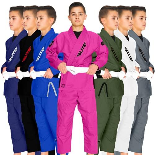 Kids BJJ GI, Elite Sports Youth IBJJF Children's Brazilian Jiujitsu Gi kimono...