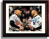 Framed Cal Ripken and Derek Jeter Autograph...