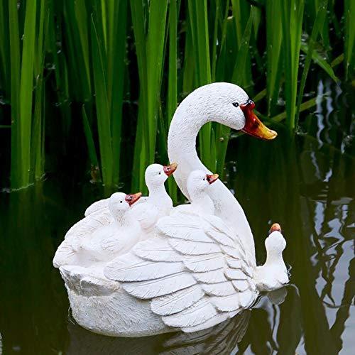 zenggp Schwimmender Schwan Water Decoy Floating Craft Ornamente Für Teiche - Garten Oder Teich Art