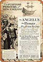 1913 アンジェラス パイオニア プレーヤー ピアノ ヴィンテージ ルック 8x12 インチ メタル ブリキ サイン レトロ - 壁の装飾 プラーク ポスター メタルプレートブリキ 看板 2枚セットアンティークレトロ