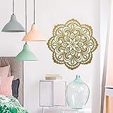 LSMYM Mandala vinilo Adhesivos de pared Creativo Habitación de los niños Sala de estar Decoración del hogar Vinilo Adhesivo Mural yoga Papel tapiz Rojo XL 57cm X 57cm