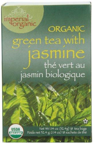 Imperial Organic Tea, Green Tea with Jasmine, 18 Tea Bags (Pack of 4)