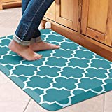 WiseLife Kitchen Mat Cushioned Anti-Fatigue Kitchen Rug,17.3'x 28',Non Slip Waterproof Kitchen Mats and Rugs Heavy Duty PVC Ergonomic Comfort Mat for Kitchen, Floor Home, Office, Sink, Laundry, Green