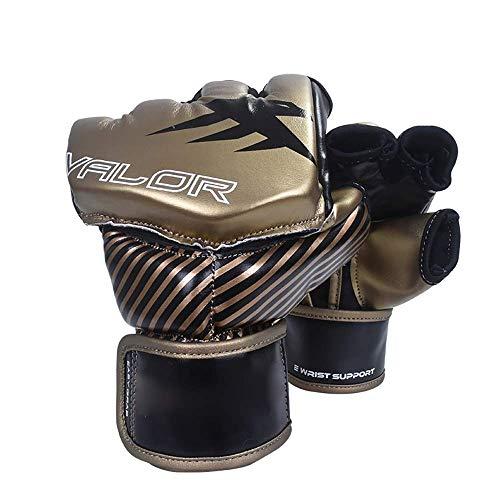 Bokshandschoenen UFC Handschoenen Leather vingerloze bokszak Mitts for Kickboxing Sparring Bokszak- for Kickboxing Sparring (Kleur: Geel, Maat: M) muay thai bokshandschoenen,dljyy