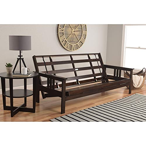 Best Prices! Dent Espresso Full-Size Wood Futon Frame Brown Mission Craftsman Transitional Solid Mul...