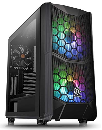 Thermaltake Commander C35 Motherboard Sync ARGB ATX Mid Tower Computer Chassis with 2 200mm ARGB 5V Motherboard Sync RGB Front Fans + 1 120mm Rear Black Fan Pre-Installed CA-1N6-00M1WN-00