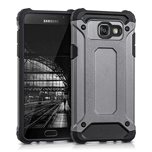 kwmobile Coque Compatible avec Samsung Galaxy A5 (2016) - Housse de Protection Hybride pour Téléphone en Transformers Anthracite-Noir
