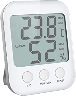 (New Version) Digital Hygrometer Thermometer, Indoor Thermometer with Humidity Monitor, Large Screen with Temperature and ...