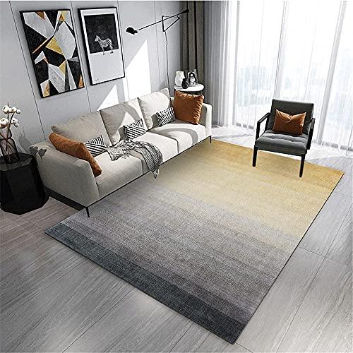 Alfombra Alfombra Oficina Negro Gris Amarillo gradación Estilo de Tinta Sala de Estar Dormitorio Alfombra balcón Alfombra Alfombra diseño Moderno 60 * 160 cm