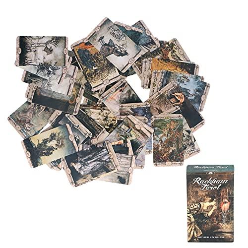 Longzhuo Cartas de Tarot de 78 Piezas, Holograma, Papel de adivinación, Naipes, Cartas de Tarot, Juego de Mesa de Entretenimiento, versión en inglés