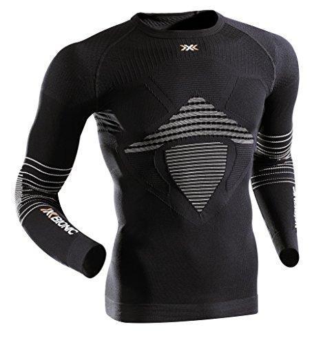 X-Bionic Man Energizer Mk2 Uw Shirt Lg_Sl., Uomo, Nero/Bianco, XXL