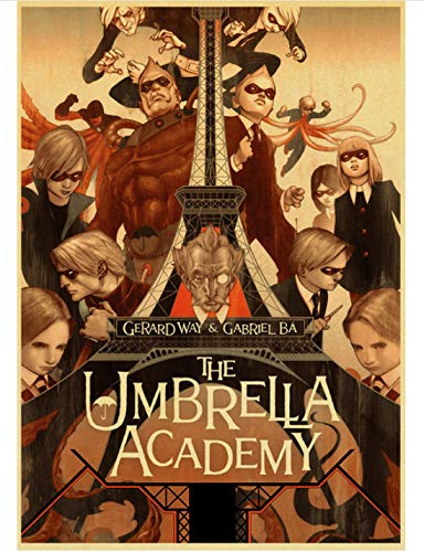 HUYUEXIN Poster su Tela TV Commedia The Umbrella Academy Poster retrò Pittura di Alta qualità per Decorazioni per La Casa 50 * 70 Cm Rapporto qualità-Prezzo Senza Cornice