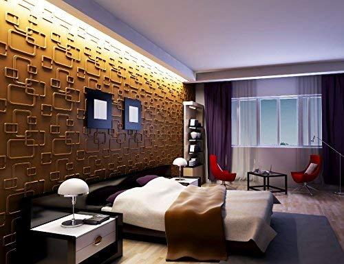 Paneles Decorativos para paredes interiores, 100% ecológico fabricado con bambú, 6 m2- Olina
