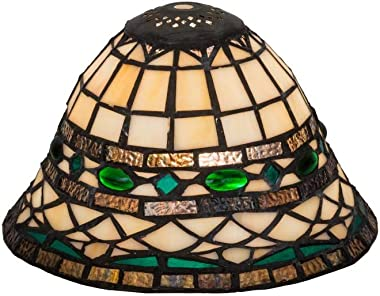 Meyda Tiffany 26325 Mica Shade from Tiffany Roman Collection in Multi Finish, 8.00 inches, Antique Copper