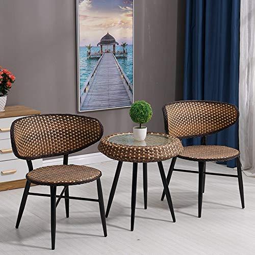 Isasar sillas de mimbre de ratán para patio, porche, interior y exterior, sillas apilables, sillas tejidas